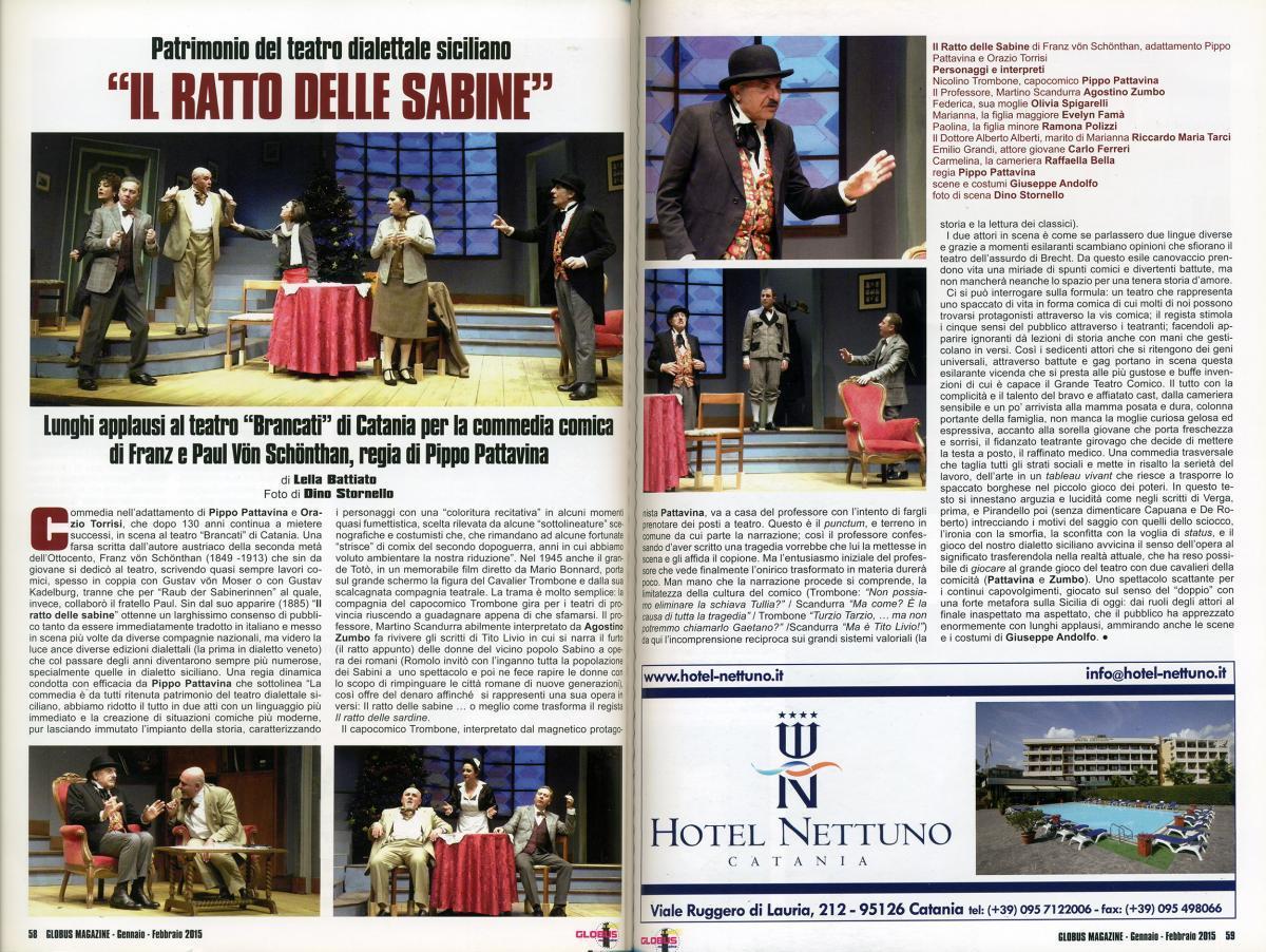 CarloFerreriTeatro RattoSabine GlobusMagazine
